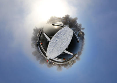 Little Planet Aalbude - Peene im Winter