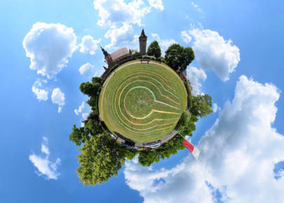 Little Planet Ostheim - Kirchenburg Nordseite